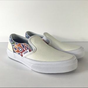 Vans Classic Slip-On Sparkle Flame Sneakers